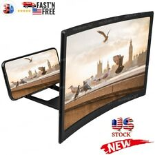 3D Mobile Cell Phone Movie Curved Screen Magnifier HD Amplifier Projector Holder