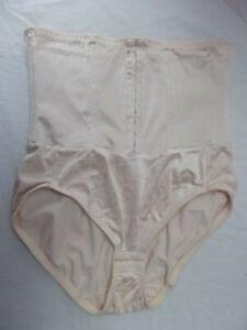 lingerie XL 1X shapewear hook eye crotch front corset girdle brocade MINT