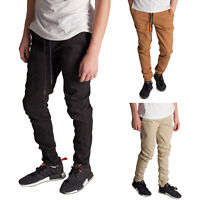 KDNK Men's Tapered Ankle Zipper Slim Fit Jogger Pants
