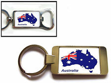 AUSTRALIA AUSTRALIAN FLAG MAP KEYRING KEYFOB OR BOTTLE OPENER GIFT