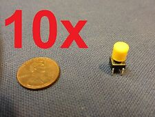 Yellow 10 pieces + plastic cap 6x6x7mm Tactile Push Button Switch 10pcs 10x c1