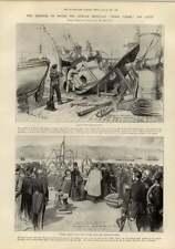 1897 Explosion Russian Ironclad Sissoi Veliki Oxford Boat Race Crew