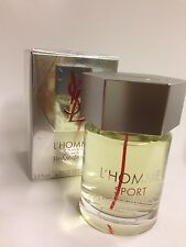 YSL L'HOMME SPORT COLOGNE By YVES SAINT LAURENT 3.3 OZ SPRAY NEW IN SEALED BOX