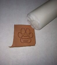 Who Rescued Who Paw Leather Stamp