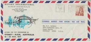 Stamp 50c Navigator on 1971 Rotary International Sydney Harbour airmail cover