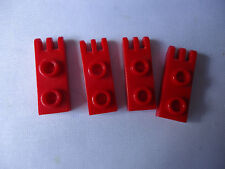 LEGO RED HINGE PLATE 3 FINGERS & HOLLOW STUD x 4 No 4275b