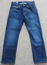 "7 Seven for all Mankind ""The Straight"" Leg Selvedge Jeans Dark Wash 29x30 Men's"