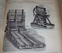 H.Josse / Revue industrielle 1888 (année complète) figures et 25 planches