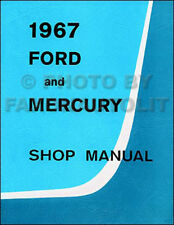 1967 Ford Riparazione Manuale Galaxie Ltd Mercury Monterey Montclair Park Lane