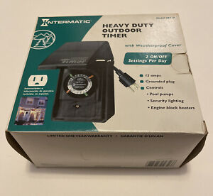 Intermatic HB31R Raintight Heavy Duty 24-Hour Outdoor Timer 15 AMP