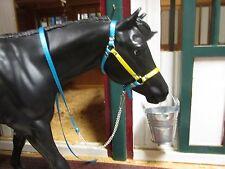 Jaapi model halter in American Pharoah colors, not for real horses, fits Breyer