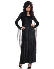 Morgana Womens Adult Fallen Angel Black Halloween Costume-M