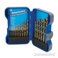 SILVERLINE Titanium Coated HSS Drill Bit Set 17pce 1mm - 9mm In Storage Case