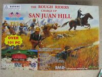 BMC Rough Riders Charge Up San Juan Hill Playset 1/32 54MM Toy Soldier Roosevelt