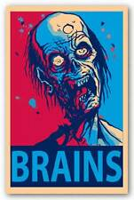 HUMOR POSTER Zombie Brains