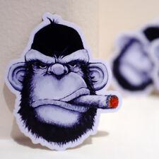 "Space Monkey Smoking Ape Anime ClipArt 6cm 2"" Decal Sticker #4528"