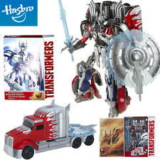 TRANSFORMERS PLATINUM EDITION SILVER KNIGHT LEADER OPTIMUS PRIME TRUCK TOY GIFT
