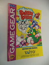 Bubble Bobble Sega Game Gear Instruction Manual Booklet Only