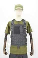 More details for molle special ops black chest rig with admin pouch sas army sf ex film stock