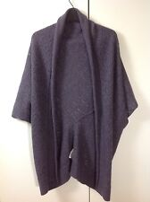 Zadig & Voltaire open cardigan wrap merino angora cashmere lace knitted