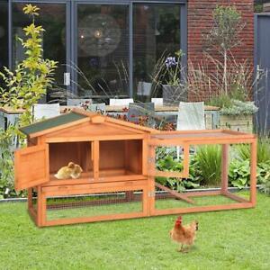156cm Kaninchenstall Hasenstall Kleintierstall Küken mit Freilauf Haustierbedarf