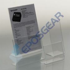 5 A5 Portrait Perspex Acrylic Angled Counter Menu Poster Holder Display Stands