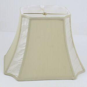 "Rectangle Bell Invert Corner Lamp Shade Beige 16"" x 11"" x 11"""