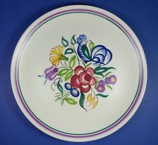 "VINTAGE POOLE POTTERY BLUE COCKEREL DESIGN 10"" DINNER PLATE"