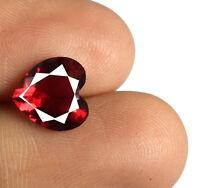 Heart Shape 100% Natural Burma Ruby Gemstone 2.45 Ct VS Clarity AGSL Certified