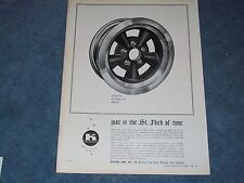 "1965 Keystone Kustomflite Vintage Wheel Ad ""Just in the St. Nick of Time"""