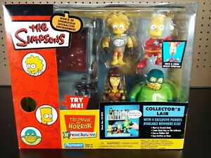 """The Simpsons Collectors Lair Playmates 2003 """"Treehouse of Horror"""" Playmates NIB"""