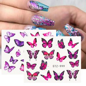 Nail Art Decals 3d Stickers 1 Sheet Self Adhesive Applique Diy Set Sticker Resin