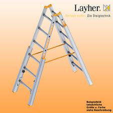 Layher Alu Treppenstehleiter,  2x6 Spr., L=1,85m, Bockleiter,Topic Typ 1061.006