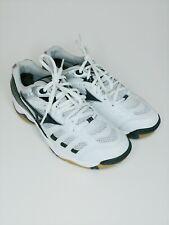 Mizuno Wave Rally Women's volley ball shoe sz. 8 white blue gray 9KV-18709