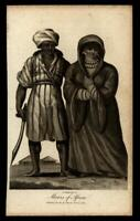 Berber Moors North Africa ethnic view 1802 print