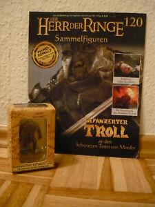 Herr der Ringe Figur:Gepanzerter Troll a.d. schw. Toren v. Mordor (120)+OVP+Heft