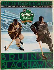 2019 NHL WINTER CLASSIC PROGRAM BOSTON BRUINS CHICAGO BLACKHAWKS NOTRE DAME
