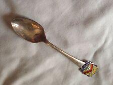 Antique 1912 Sterling Silver And Enamel Napier Souvenir Spoon By T&S