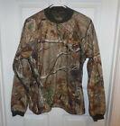 M Mens Scent-Lok RealTree Camo Pullover Top Shirt Rib Knit Collar Cuffs Hunting