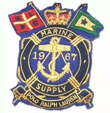 Polo Ralph Lauren Sew On Blazer Patch Blue Crown Anchor Marine Supply Flag 1967