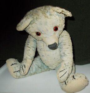 ANTIQUE FADED BLUE CHAD VALLEY TEDDY BEAR CIRCA 1930