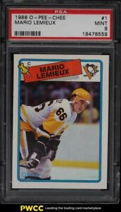 1988 O-Pee-Chee Hockey Mario Lemieux #1 PSA 9 MINT