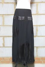 Zibi London Ladies Maxi Skirt in black with satin detail UK8/EU36/US4 RRP £55