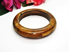 Earthy! Brown Dyed Carved Natural Layered Bangle Bracelet!