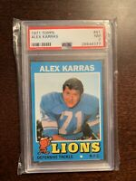 1971 TOPPS #41 ALEX KARRAS PSA 7 HOF LIONS