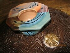 OJO SARCO HANDMADE POTTERY N.MEXICO FLOWER ARRANGING CONTAINER W FROG IKEBANA
