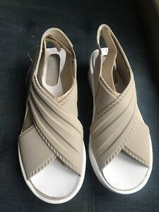 Bzees Women's Beige Sling Back Wedge Sandals Cloud Technology Sz8 NWT