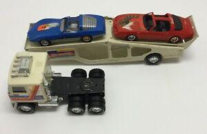 NYLINT GMC Astro Auto Transport Car Carrier Pressed Steel w/ Corvette Firebird