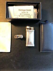 Sillems ITT IM Corona Old Boy 925 Sterling-Silber Pfeifen Feuerzeug + Ersatzkopf