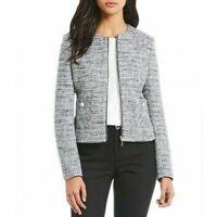 karl lagerfeld paris Tweed Fringe Jacket Blazer 230$